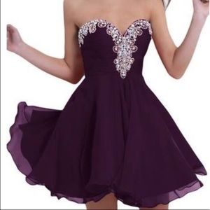 🌺SOLD🌺Purple Homecoming Dress