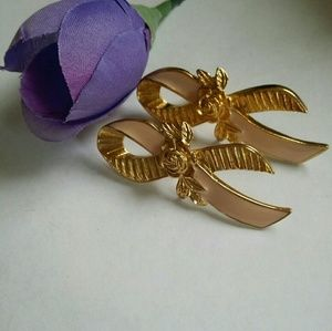 Vintage Breast Cancer Awareness Brooches