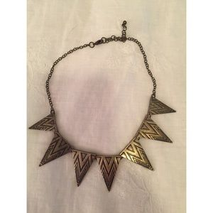 Jewelry - Gold Triangle Aztec Necklace