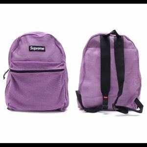 9b175bac305 Authentic Supreme mesh backpack NWT
