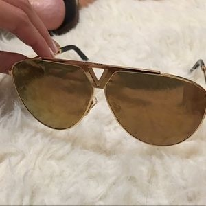 08a6d4ec0b4 Louis Vuitton Accessories - Men s Tonca Gold Louis Vuitton Sunglasses
