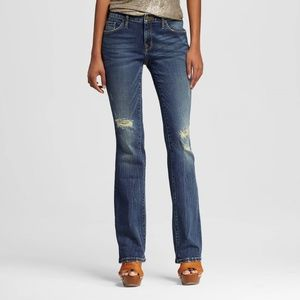 Denim - Mossimo Mid Rise Skinny Bootcut Jeans