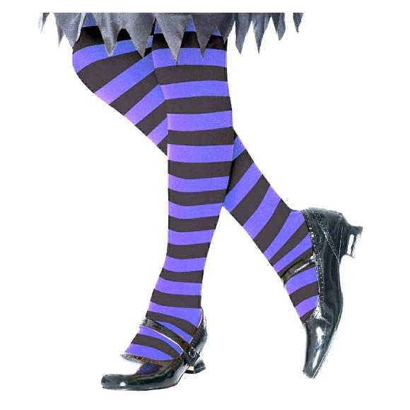 Opinion black and purple striped hosiery good