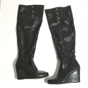Chinese Laundry Verano Over The Knee Wedge Boots