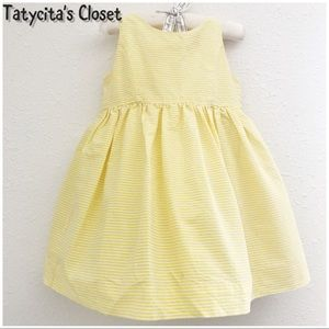Ralph Lauren White and Yellow striped dress