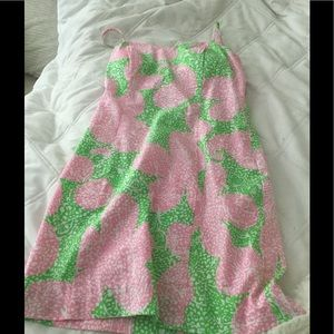 Lilly Pulitzer pink and green dress size 0