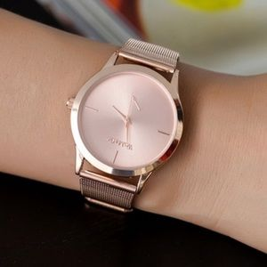 Rose gold plated stainless steel watch brand new