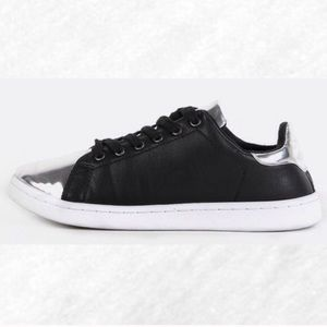Shoes - Metallic Accent Black Sneakers