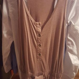 Tops - Tank halfway button with pockets drop waist tunic