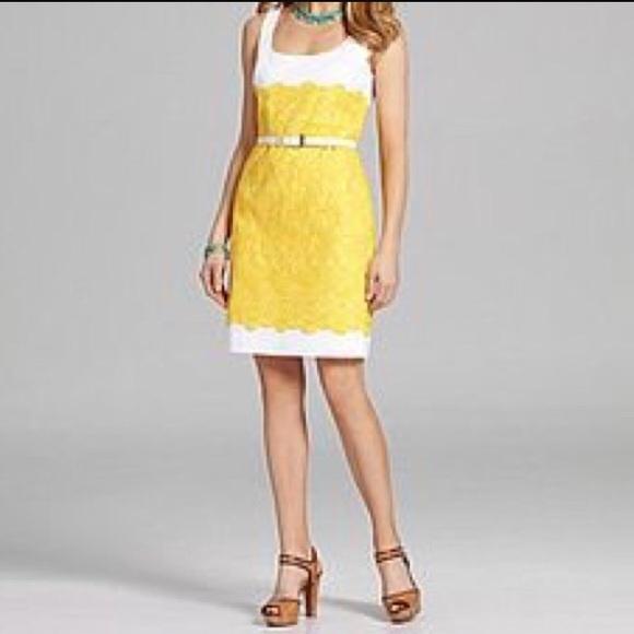 75d2375b830 ... Antonio Melani White and Yellow Dress. M 59a0383fbf6df587ba01ff95