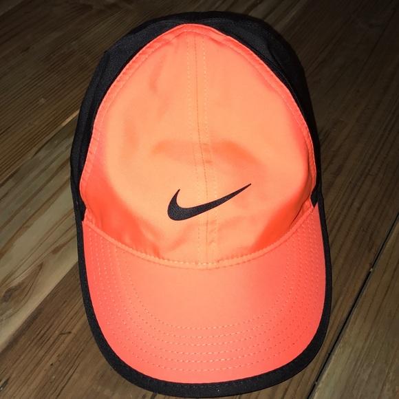 f19c8d2172707 NWT Neon Orange   Black Nike Hat