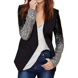 Jackets & Blazers - ✮NWT Sequin Patchwork One Button Jacket Blazer✮