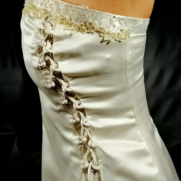 Zum Zum By Niki Livas Dresses Wedding Dress Ivory Gold Embroidered
