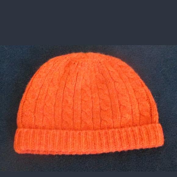GAP Accessories - Gap Winter Hat Beanie Skull Cap Orange Cable Knit b5d9cbcc5