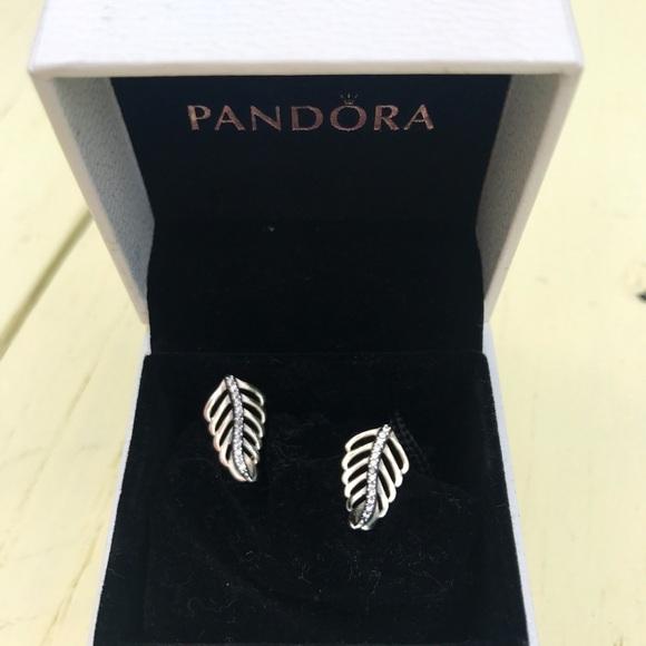 ce2acac0765c83 Pandora Jewelry   Shimmering Feathers Earrings   Poshmark