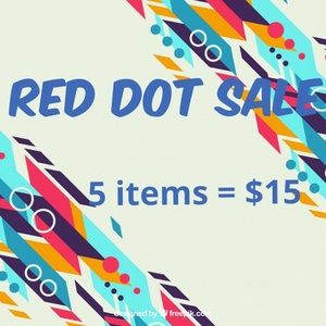 🔴 Red Dot 5 for $15 SALE 🔴