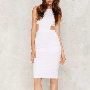 🆕💚117 Nasty Gal side your fears midi dress