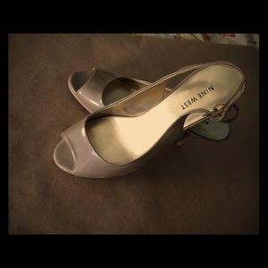 Shoes - Nine West, slingback, peep toe, heels