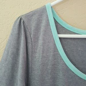 Rare Solid Grey Ana with Blue-Green Piping