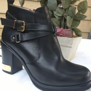 Topshop Women's Black  Leather Ankle Boots