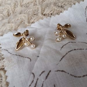 Leaves and Berries Statement Earrings