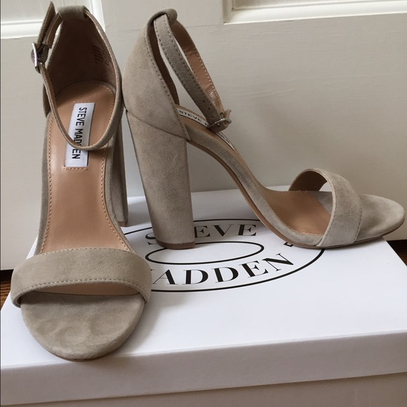 a5ee2137930 Steve Madden Carrson Taupe Suede heels. M 59a06aba5a49d0f24d02e662