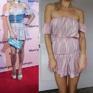 Dresses & Skirts - Misa 2017 fall pink pinstriped boho 2 piece set xs