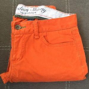 Tommy Hilfiger orange freedom skinny pants