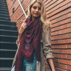 Accessories - Burgundy Blanket Scarf