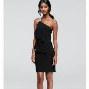 Nwt Scarlett black layered 1 shoulder dress Sz 6