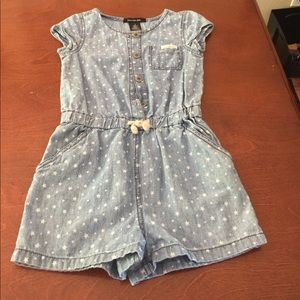 Calvin Klein light blue jean with stars romper