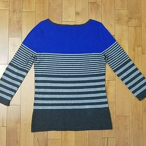 Cable & Gauge Sweaters - Cable & Gauge Striped Colorblock Sweater