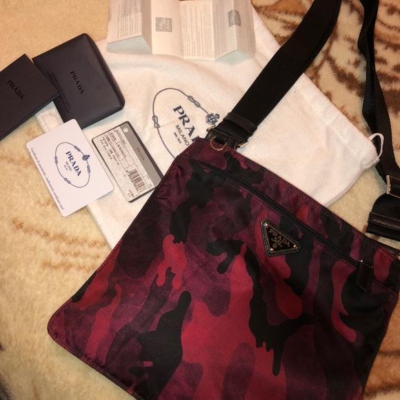 993e064ae910 Prada Bags   Nwt Nylon Red Camo Crossbody   Poshmark