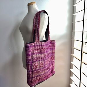 Large ethnic-print bag