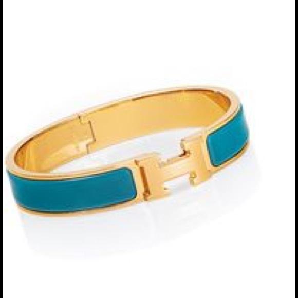 Hermes Jewelry   Enamel Narrow Clic Clac H Bracelet Pm   Poshmark fd0d0623521