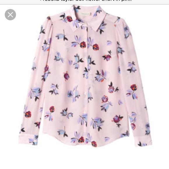 49b89d8bd824f5 Rebecca Taylor pink bellflower-print silk blouse. M_59a0ae52fbf6f98b8400be93