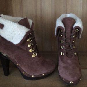 bcbgeneration faux fur ankle boots