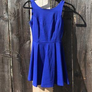 4783640c2f Lulu s Dresses - Wanderlust Royal Blue Skater Dress