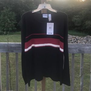 Sweaters - NWT black, white and red stripped sweater 18-20W