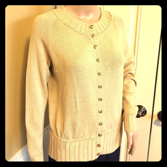 St. John - 🎗ST. JOHN Vtg Light Gold/Tan Knit Cardigan🎗 from ...