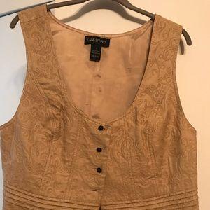 Lane Bryant tapestry vest