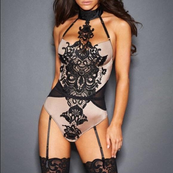 8584ba85e7c Frederick s of Hollywood Eliza Guipure lace teddy