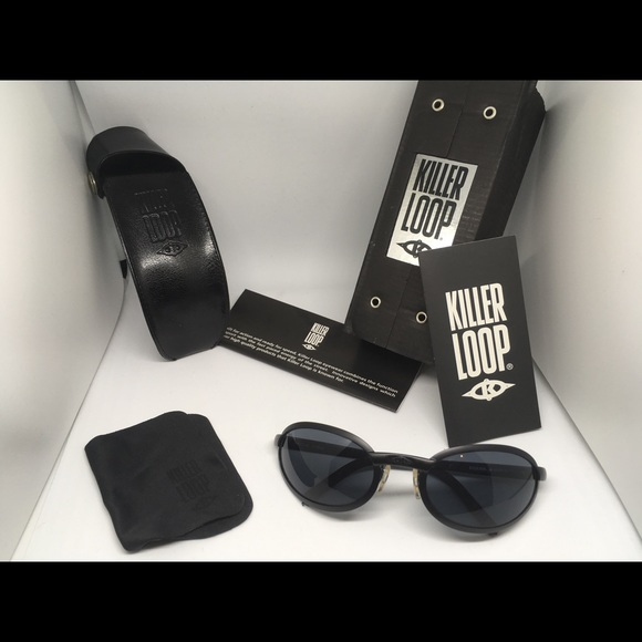 100 /% UV BRAND NEW MADE IN ITALY KILLER LOOP sun glasses with box