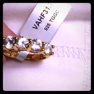 Jewelry - Ring size 7 gold plated over 925 sterling silver