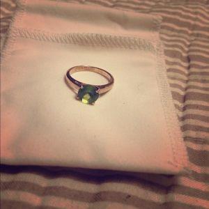 Jewelry - Ring sterling silver 925 green peridot