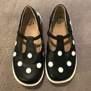 Black and white polka dot puddle jumpers