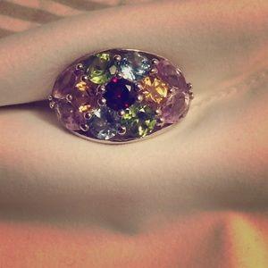 Jewelry - Ring beautiful gemstones real! 925