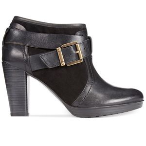 Clarks Artisan Black Lida Dallas Buckle Booties