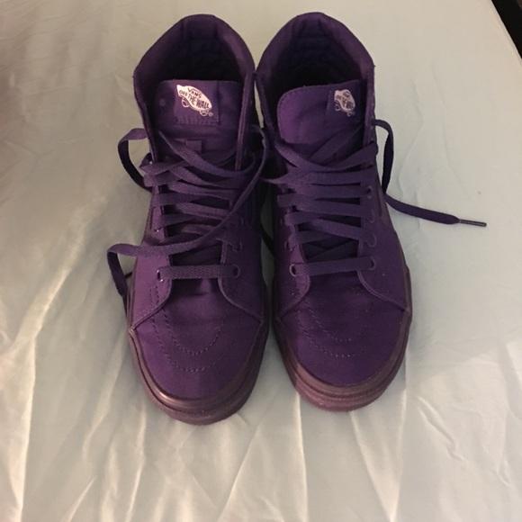 Vans Shoes   All Purple High Top Vans
