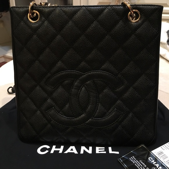 18a3a615f42f93 CHANEL Bags | Petite Shopping Tote Pst Black Caviar | Poshmark
